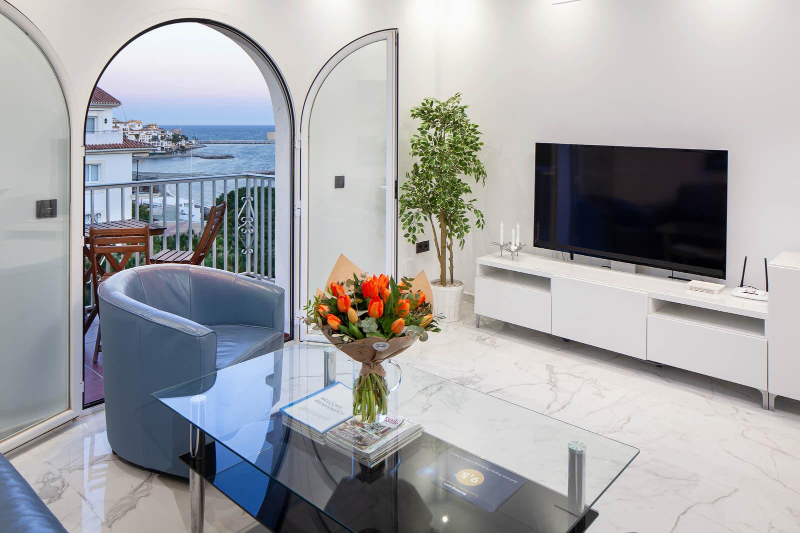 Apartament Puerto Banus - widok z okna