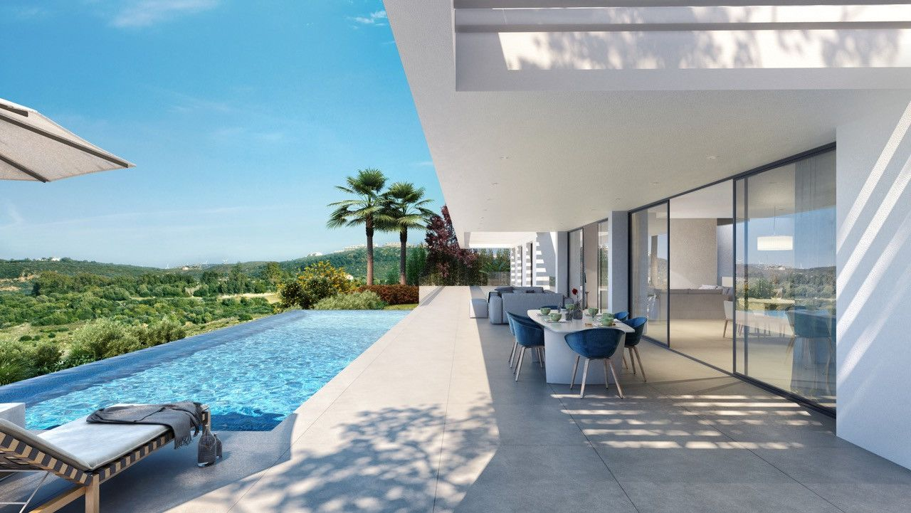 Modern Villas with panoramic sea views in gated 5-star golf resort in Los Flamingos