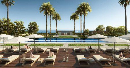 Luxury front line beach development in New Golden Mile, Estepona, Spain